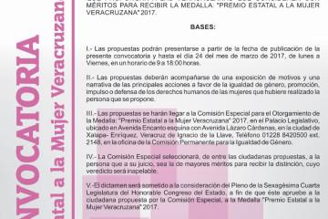Convocatoria Mujer Veracruzana