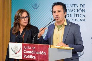 Rocío Nahle y Cuitláhuac García