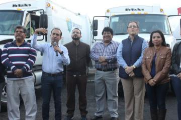 Banderazo de trabajos de Limpia Pública en Veracruz Fernando Yunes Ileana Ramírez