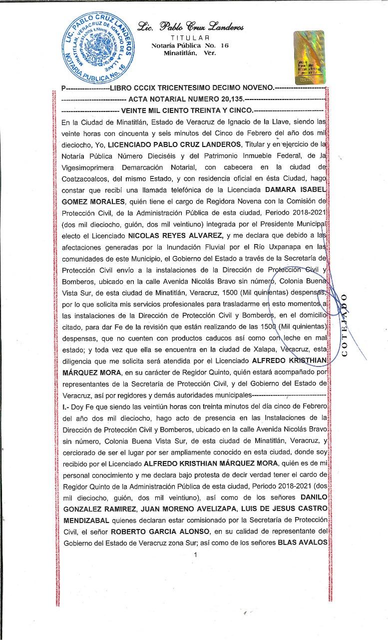 Acta notarial 1