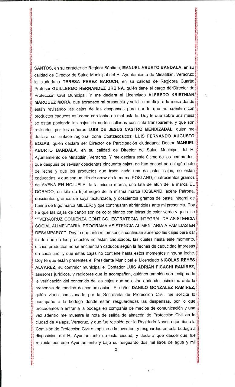 Acta notarial 2
