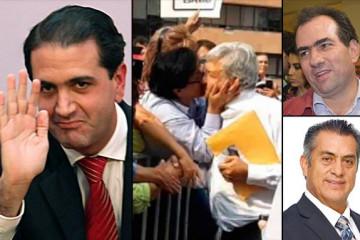 Salvador Manzur, López Obrador besado, Pepe Yunes y El Bronco