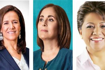 Margarita Zavala, July Sheridan y Alba Leonila Méndez Herrera