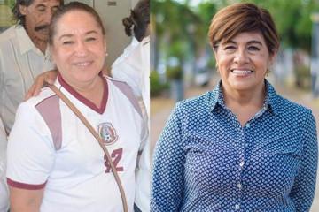 Las periodistas Fanny Yépez y Rosa María Hernández Espejo