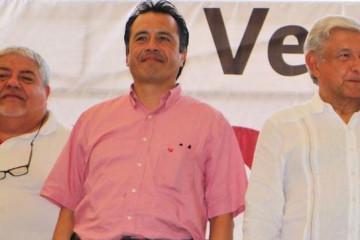 Manuel Huerta, Cuitláhuac García y Andrés Manuel López Obrador