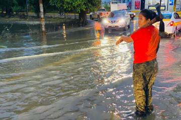 Inundación obra SIOP